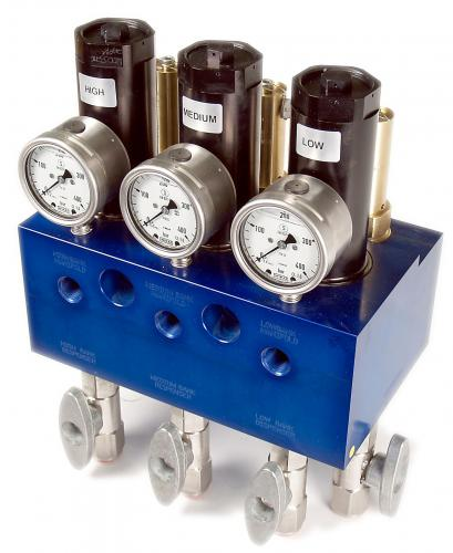 Mechanical Priority Fill Manifold with Relief Valves